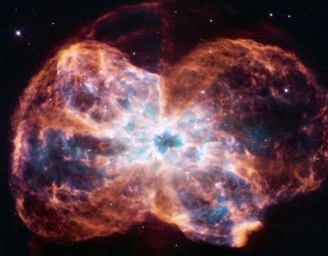 burned-out star white dwarf, Colorful Demise of a Sun-like Star image taken by NASA's Hubble Space Telescope NGC 2440