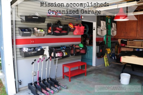 mission accomplished organized garage